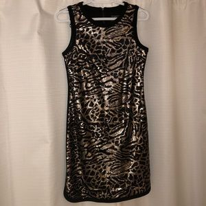 Vince Camuto Sequin Leopard Cheetah Print Dress 2